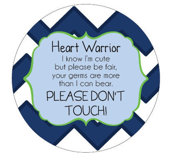 Heart Warrior Preemie, newborn, baby car seat tag, baby shower gift, stroller tag, baby no touching car seat sign
