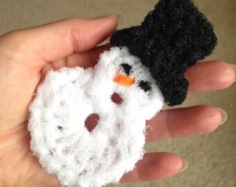 Dish Scrubbies,Snowman Pot Scrubber,Crochet Scrubbies,Dish Scrubby,Dish Scrubber,Scouring Pads,Crochet Scrubby,Kitchen Pot Scrubbers, Gift