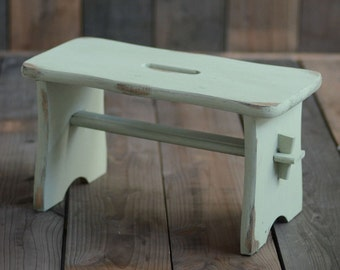 Posing stool mint, newborn props, double sided posing stool, newborn posing stool, baby photo prop, newborn props, photography props
