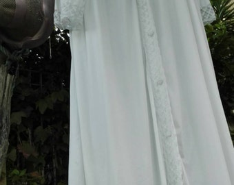 White shabby chic Wedding gown
