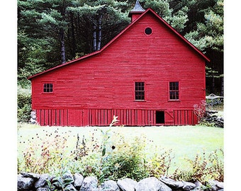 Photo Greeting Card #15 - Red Barn in Rural Vermont - Newfane, USA