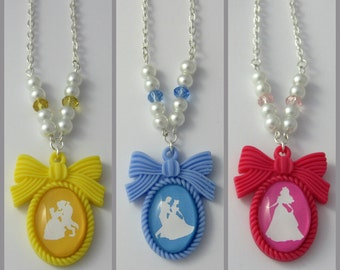 Disney Princess Inspired Silhouette Pendant