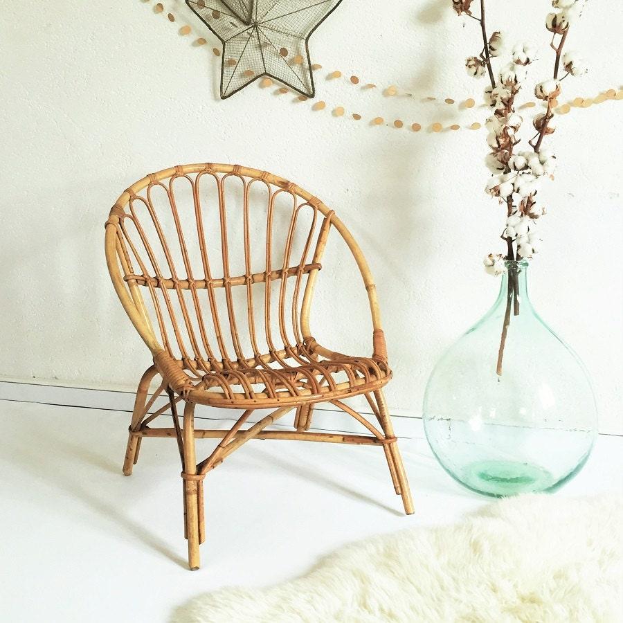 fauteuil rotin vintage ann es 60 vintage rotin si ge. Black Bedroom Furniture Sets. Home Design Ideas