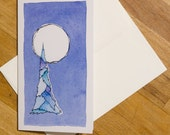 Blue Tree Greeting Card, ...