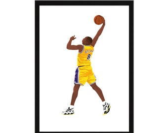 Kobe Bryant A3 Poster: 297mmx420mm LA Lakers, Los Angeles, Basketball, NBA, America, Nike, Michael Jordan, Lebron James, Yellow, Dunk