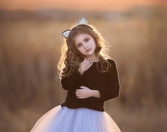 Mini Ballerina : hand dyed  tulle skirt / girl tutu / flower girl skirt / childrens tutu / flower girl dress / girl tulle skirt / ombre tutu