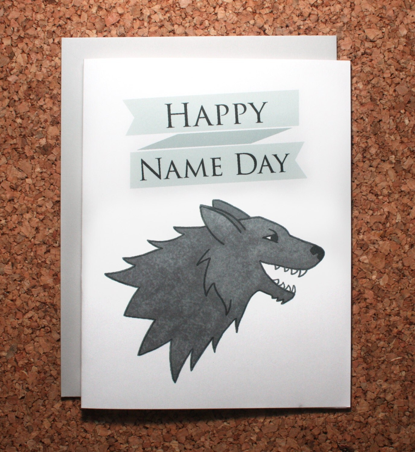 Game of Thrones Birthday Card Name Day Card Stark birthday