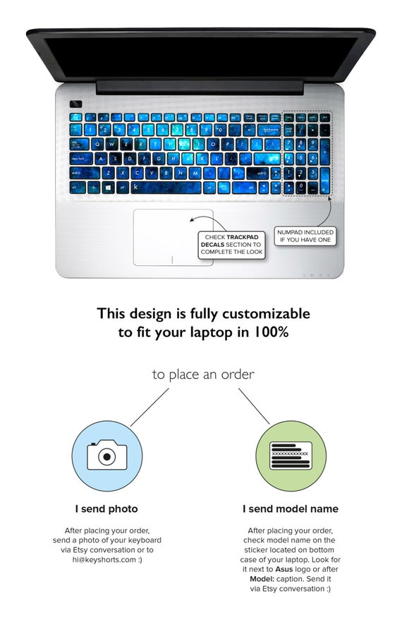 Asus Keyboard Stickers Keyboard Decals Asus Laptop By