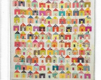 House Quilt Pattern, Village Quilt Pattern, Miss Rosie's Quilt Co., Charm Pack Quilt Pattern, Scrap Quilt Pattern, RQC 701