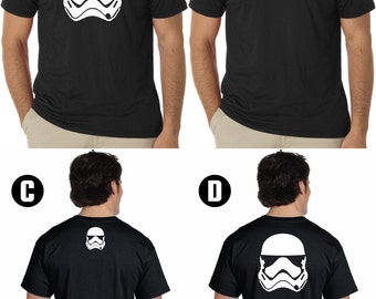 Customize-able First Order Stormtrooper tshirt.. Star Wars Inspired First Order Storm Trooper tshirt.. First Order Stormtrooper tshirt..