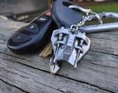 Vintage Star Wars - Luke Skywalker's Snow Speeder Silver Edition Micro Machine Key Chain With Custom Gift Box