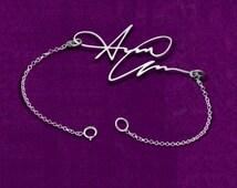 personalized bracelet, Handwriting Bracelet - Sterling Silver Personalized Bracelet - Signature Jewelry - Love Bracelet, Handwritten Jewelry