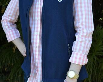 Monogram Fleece Vest- Ladies Monogrammed Vest-Personalized Outerwear-Initial Fleece Vest-Women's Monogram Vest-Gifts under 50- ON SALE