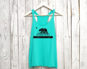 California Tank Top. California Shirt. Racerback Tank. Tri Blend.