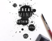 "Sherlock Holmes | Print MircoQuote ""To a great mind, nothing is little."" (S, L)"