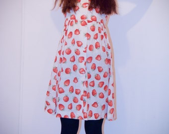 Strawberry fields forever 1950s dress XXS-XS