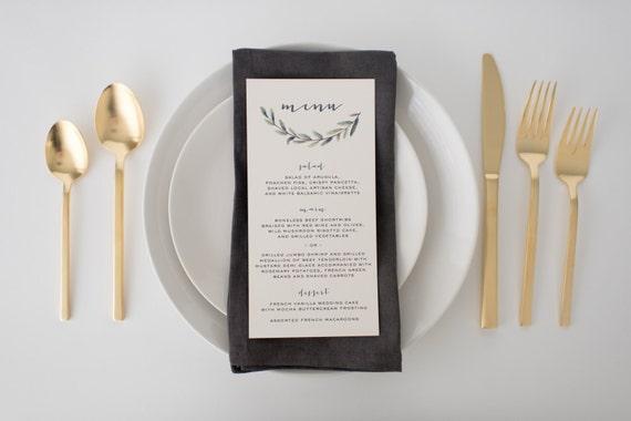 elliot wedding menus (sets of 10)  // lola louie paperie
