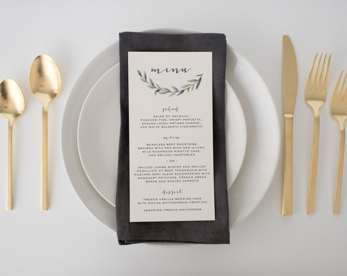 elliot wedding menus (sets of 10)  // lola louie paperie
