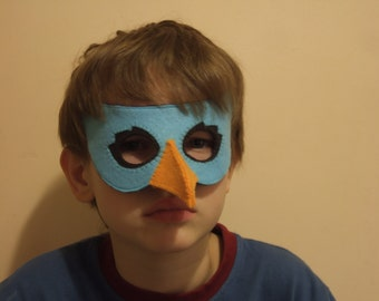 Bird felt mask for kid and adult - handmade  bird costume for boy and girl- Dress up play accessory - Theatre roleplay