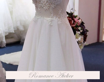 Cutout Elegant, Lace, Floral, Wedding Gown, Lace, Bridal Gown, Straps, White, Ivory, Weddings, Tulle, Garden