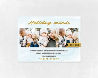 Photography Holiday Mini Session template  -  Photographer Marketing template - Mini Session - 002