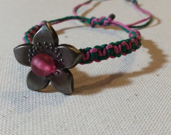 Adjustable Flower Hemp Bracelet