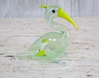 Antique 1920's German Glass Bird Figurine Perfume Bottle Bimini Vintage Blown Ornament Figure 1930's Flacon Bird