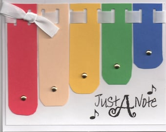 GR0005-Just A Note Greeting card