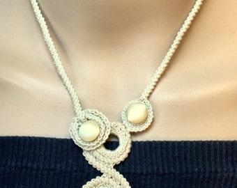 Free-Form Crochet Wedding Necklace