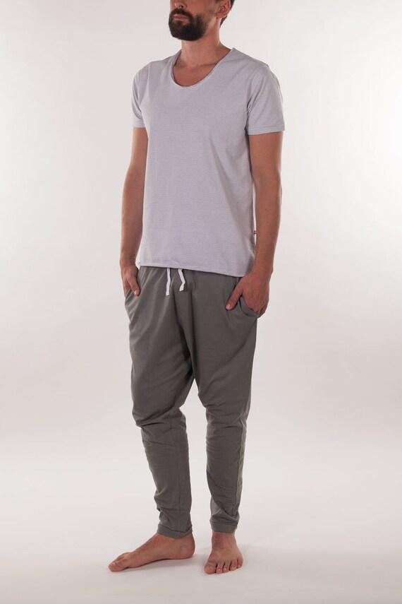 Organic Cotton Men's Pyjama Top, T-shirt, Nightie, Sleepwear, Pajama Top, Men's Pajamas, Men's Loungewear, Men's Yoga Top