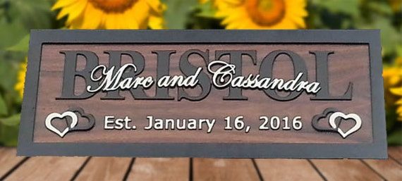 Family Name Sign Last Name Signs Personalized by