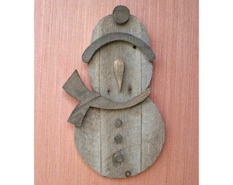 Snowman Reclaimed Pallet Wood Wall Art