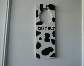 Wooden Hanging Door Sign/Keep Out Sign
