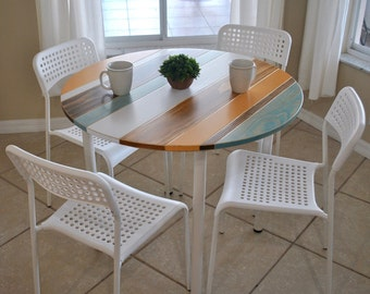 colorful round breakfast table small dining table