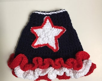 Hand crocheted dog dresses made to order