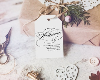 Welcome Wedding Tag, Wedding Welcome Bag Tag, Wedding Welcome Gift Tags, Welcome Tags, Welcome Bag, Wedding Favors, #KKD106_13