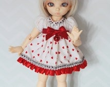 Littlefee Fairyland Doll BJD Yosd Dress red