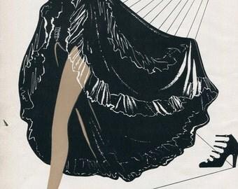 Lingerie, stockings, underwear, hosiery, fabric, swimwear; Unseamed, seamless stockings by Hanes; approx. 8x10 in. - PD001708