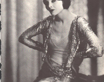 Print from book; Myrna Loy, 9 1/2 x 12 1/2 inches - PD001181