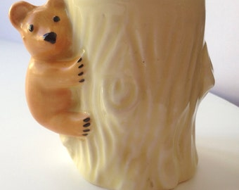 Teddy bear toothpick holder Made in England