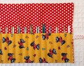 The Rollup for Crochet, Crochet Hook Roll Up Storage Organization, Crocheting Gift for Crocheter, FREE SHIP, Scottie Dogs and Red Polka Dots