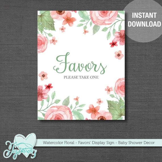 Display Baby Shower: Favors Please Take One Table Display Sign, Favor Sign