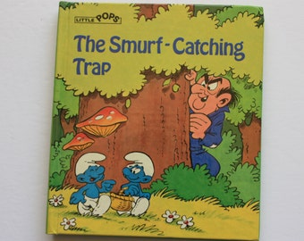 the Smurf Catching  book, Smurf Little Pops, Peyo Book, Smurfs book, Smurf book