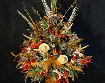 Teddy Bear Nutcracker Decorated Christmas TreeLighted