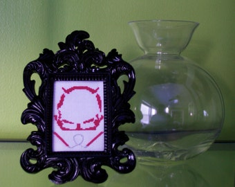 Daredevil Mask Framed Cross Stitch