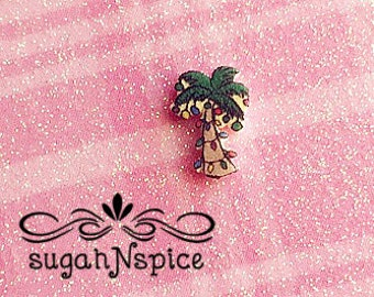 palm tree christmas tree floating charm christmas lights floating tree palm tree charm - Palm Tree Christmas Tree