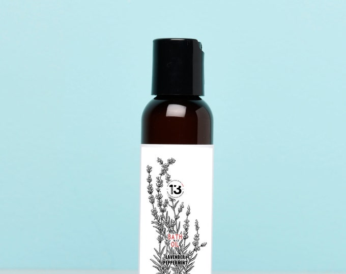 Lavender and Peppermint Bath Oil