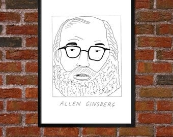 Badly Drawn Allen Ginsberg Poster