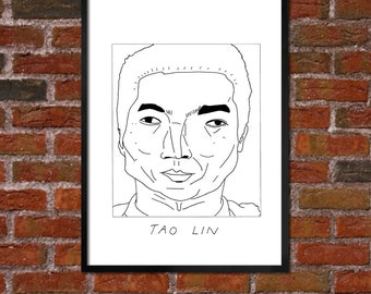 Badly Drawn Tao Lin - Literary Poster - *** BUY 4, GET A 5th FREE***