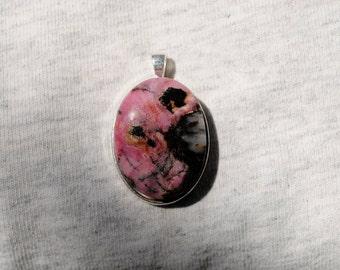 Pink Rhodonite Pendant